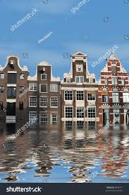Global Houses Global Warming Houses Amsterdam Overflow Water Stock Photo 8640217