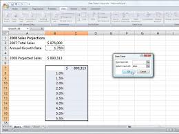 two way data table excel how to create a one variable data table in excel 2007 dummies