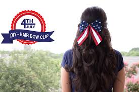 fourth of july hair bows 4th of july diy hair bow clip easy