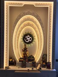 designer 3d mandir backlit for hindu religion nitin pinterest