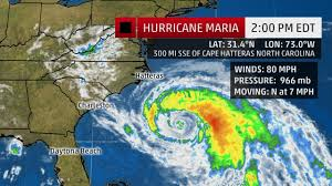 Map Of North Carolina Coast Tropical Storm Warning For North Carolina Ahead Of Hurricane Maria