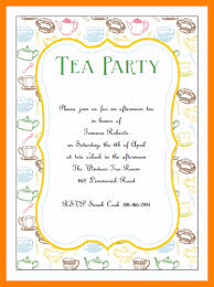 9 tea party invitation template letter adress