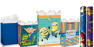 minion gift wrap gift bags gift wrap wrapping paper tissue paper party city
