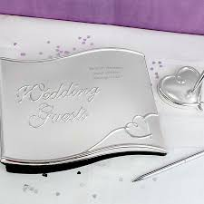 wedding guestbook personalised wedding guest book with pen