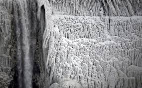 frozen niagara falls niagara falls beautiful frozen winter