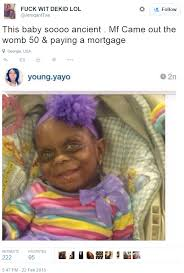 Old Baby Meme - not funny mariah anderson old baby memes cause cyberbullying