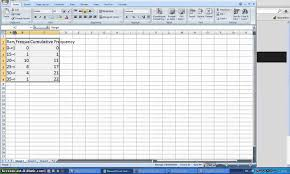 how to create a table in excel 2016 how to make a cumulative frequency table with excel youtube
