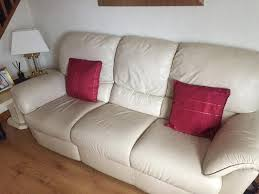 Natuzzi Cream Leather Sofa In Uddingston Glasgow Gumtree - Cream leather sofas