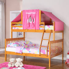 Double Deck Bed Designs Pink Bunk Bed Style For The Mini Jet Set A Growing Family Hayneedle