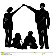 House Silhouette by Family Making House Silhouette Stock Photo Image 7228490