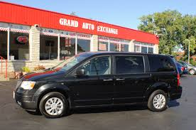 2008 chrysler town country lx black mini van sale