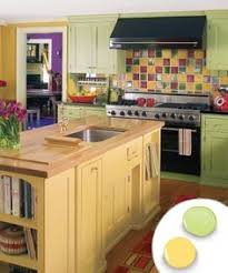 Green Cabinet Kitchen 12 Kitchen Cabinet Color Combos That Really Cook Simple Kitchen