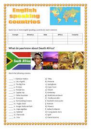 13 free esl south africa worksheets
