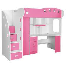 Jysk Bunk Bed Loft Bed White Pink