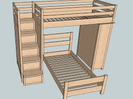 Wood Loft Bed With Desk Plans by 49 Best Bunk Bed Images On Pinterest 3 4 Beds Kids Bunk Beds