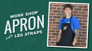 Custom Aprons For Men Make A Workshop Apron With Leg Straps Youtube