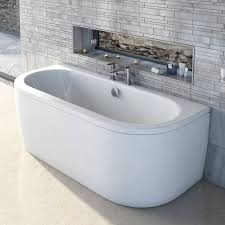Bathtub Panel by Cayman D Shaped Doubled Ended Back To Wall Bath Victoria Plumb