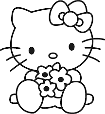 Halloween Hello Kitty Coloring Pages by Desenhos Hello Kitty