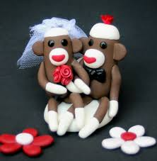 monkey cake topper sock monkey wedding cake topper cupcake size cake toppers to top