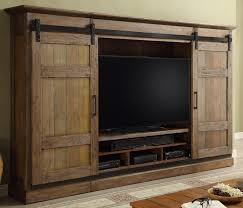 parker house hunts point 4pc entertainment wall with sliding doors