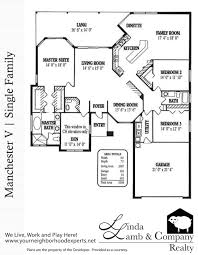 Single Family Floor Plans Manchester V Single Family Floor Plan Heritage Palms Linda Lamb