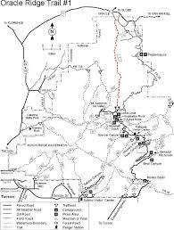 mt lemmon hiking trails map coronado national forest oracle ridge trail 1