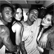 kendall jenner is obsessed with chris brown after partying with