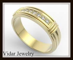 wedding ring designs for men yellow gold diamond wedding band for men vidar jewelry unique