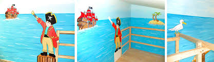 piratenzimmer wandgestaltung kinderzimmer piratwandgestaltung ruaway