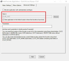 can i pass the current folder as parameter to an application