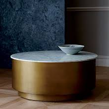 Metal Drum Accent Table Modern Accent Tables West Elm