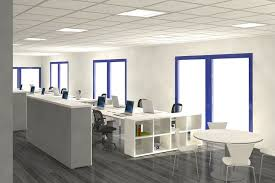 Fresh Office Interior Design Supported By Bright Theme And - Interior design ideas for office space