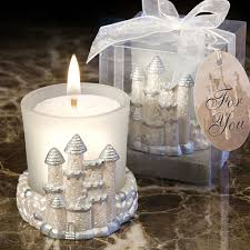 candle favors fairytale castle candle favors