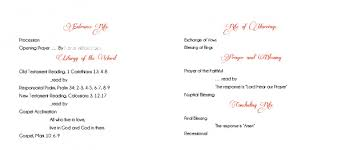 wedding programs catholic mass catholic wedding ceremony program template without mass
