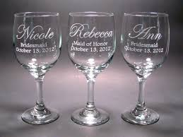 personalized glasses wedding personalized bridal party wine glasses set of 4