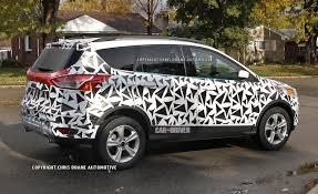 ford crossover escape 2013 ford escape spied with minimal camo prior to l a debut car