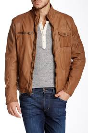 jacket moto cole haan washed genuine leather moto jacket nordstrom rack