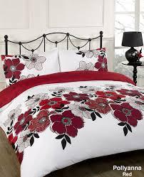 Black And White King Size Duvet Sets Dreamscene Pollyanna Floral Design Duvet Cover Bedding Set With