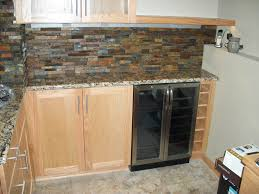interior bar with tile backsplash stacked stone backsplash stone