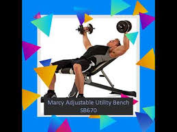 Marcy Adjustable Bench Marcy Adjustable Utility Bench Sb670 Youtube