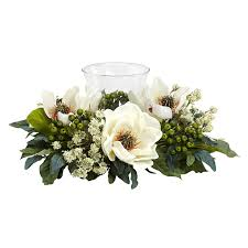 silk flower magnolia candelabrum silk flower arrangement free shipping today