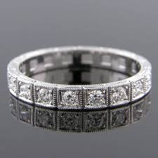 599h 101 art deco inspired pave set diamond segmented platinum