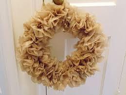 brown plastic bag wreath hometalk