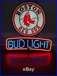 bud light lighted sign 1992 vintage boston red sox bud light neon sign budweiser