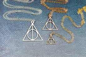 harry potter necklace images Deathly hallows necklace harry potter jewelry ivybydesign jpg