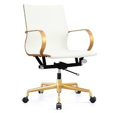 Office Chair Images Png Malone Gold White Modern Office Chair Eurway