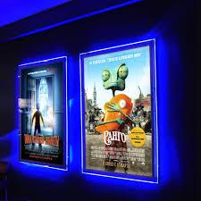 led picture frame light ultra thin acrylic frameless led illuminated movie poster frame