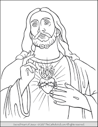 coloring page of jesus ascension jesus coloring page sacred heart of thecatholickid com