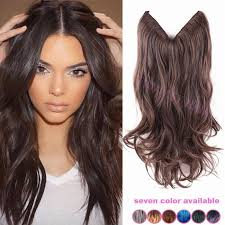 vpfashion ombre hair extensions 8pcs lot 18inch black and grey ombre hair synthetic