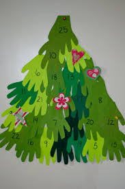 hand print tree advent calendar chasing supermom